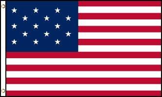 15 Stars Flag (1er mai 1795 – 3 juillet 1818)