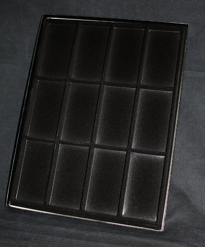 160FTC 12 (Black) Display Cases - présentoir pour médailles en noir - EN STOCK