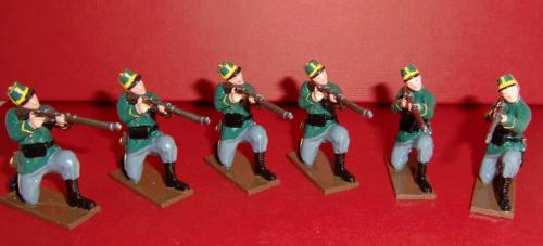 833 - Infantry, 1st Belgian Carabiniers Regiment , Six Kneeling Privates Firing ( WWI) - EN STOCK