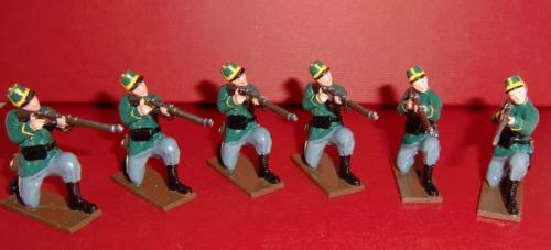 833 - Infantry, 1st Belgian Carabiniers Regiment , Six Kneeling Privates Firing ( WWI) - EN STOCK