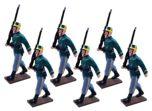 836 - 1st Belgian Carabiniers Regiment Marching - EN STOCK