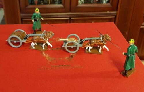838 - Belgian Dogcart with a Machine Gun and Limber with two followers 1st Carabinier Regiment - EN STOCK