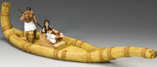 AE049 - The Papyrus Boat Set (Approx. Length of Boat 26cm) - article retiré mais encore 1 dernier exemplaire en stock