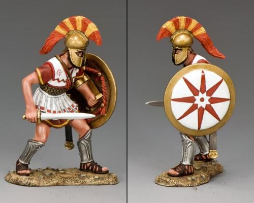 AG035 - Hoplite Advancing with Sword and Shield