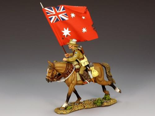 AL007A - Mounted Australian Flag bearer with Red Ensign