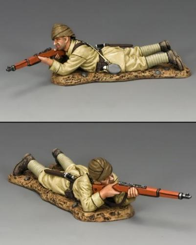 AL070 - Lying Prone Turkish Rifleman