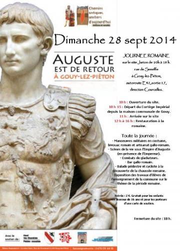 Affiche Journée Romaine du 28 sept. 2014 à Gouy-lez-Piéton