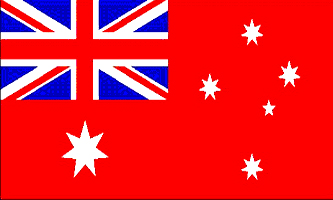 Australian Red Ensign - drapeau national civil et pavillon marchand de la Fédération d Australie de 1901 à 1954