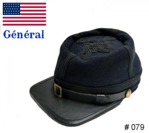 BT079 - Union Officers Kepi - General - EN STOCK (tailles M = 56/57 et L = 58/59)