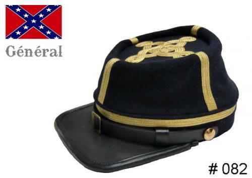 BT082 - Confederate Officers Kepi - General - EN STOCK (tailles M = 56/57 et L = 58/59)
