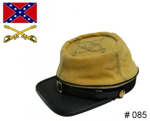 BT085 - Confederate Officers Kepi - Cavalry - EN STOCK (tailles M, L & XL)