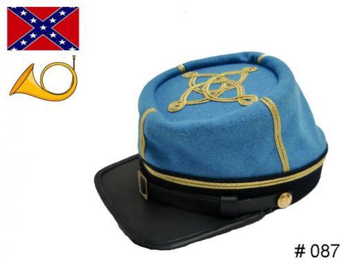 BT087 - Confederate Officers Kepi - Infantry - EN STOCK (tailles M, L & XL)