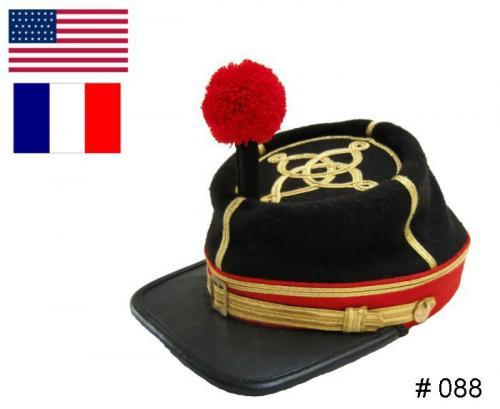 BT088 - Civil War Officers Kepi or French National Guard - EN STOCK (tailles M = 56/57 et L= 58/59)
