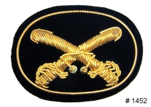 BT1452 - Cavalry Officers Gold Embroidered Kepi Badge - EN STOCK