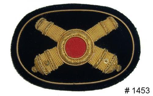 BT1453 - Artillery Officers Gold Embroidered Hat Badge - EN STOCK