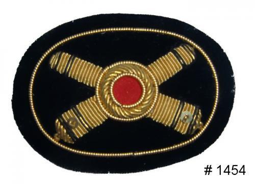 BT1454 - Artillery Officers Gold Embroidered Kepi Badge - EN STOCK
