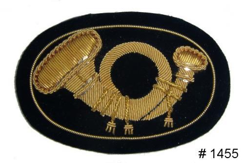 BT1455 - Infantry Officers Gold Embroidered Hat Badge - EN STOCK