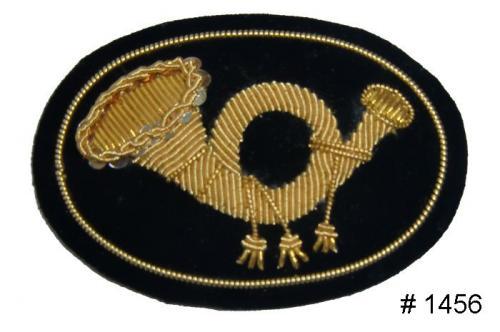 BT1456 - Infantry Officers Gold Embroidered Kepi Badge - EN STOCK