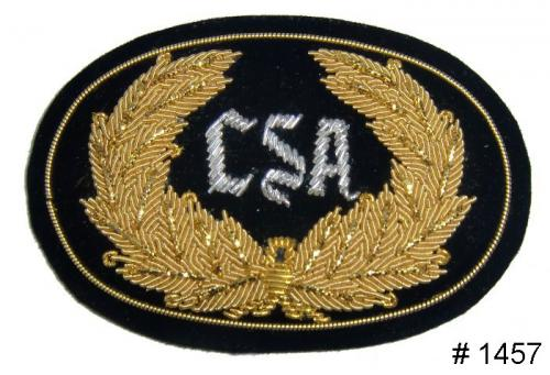 BT1457 - CSA Officers Gold and Silver Embroidered Hat Badge - EN STOCK