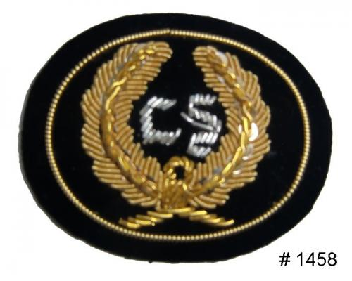 BT1458 - CSA Officers Gold and Silver Embroidered Kepi Badge - EN STOCK