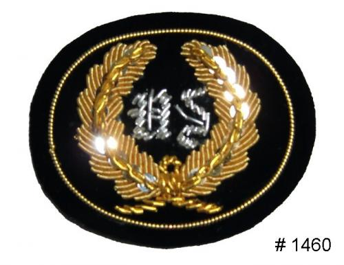 BT1460 - US Officers Gold and Silver Embroidered Kepi Badge - EN STOCK