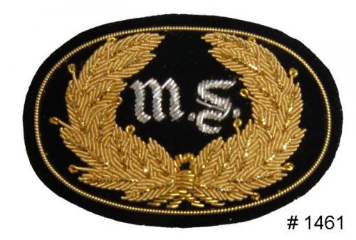 BT1461 - Medical Corps Officers Gold and Silver Embroidered Hat Badge - EN STOCK