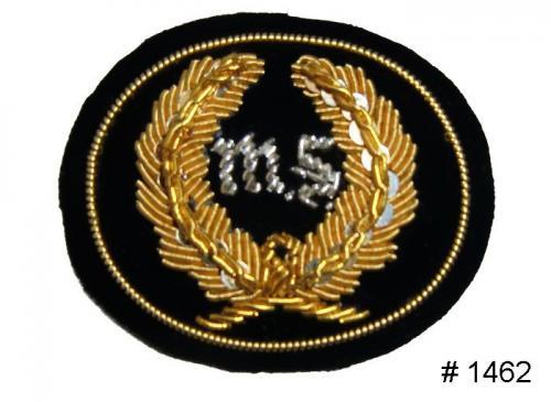 BT1462 - Medical Corps Officers Gold and Silver Embroidered Kepi Badge - EN STOCK