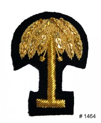 BT1464 - South Carolina Gold Embroidered Badge - EN STOCK