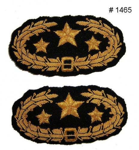 BT1465 - CS General s Gold Embroidered Collar Badge - EN STOCK