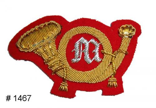 BT1467 - Marines Officers Gold and Silver Embroidered Hat Badge - EN STOCK
