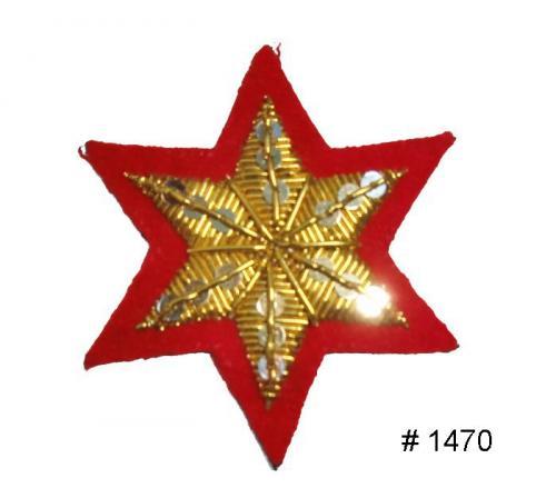 BT1470 - Confederate Senior Officers Saddle Blanket Star - EN STOCK