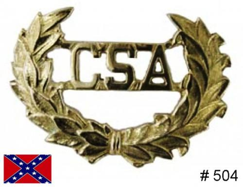 BT504 - CSA Hat Insignia,  Solid brass casting with attaching wires on back - EN STOCK