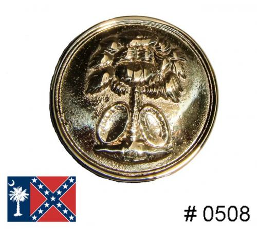 BT508 - South Carolina Insignia, Solid brass casting with attaching wires on back - EN STOCK