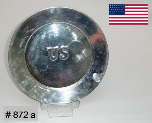 BT872a - Assiètte platte impression US - US Tin Plate - EN STOCK