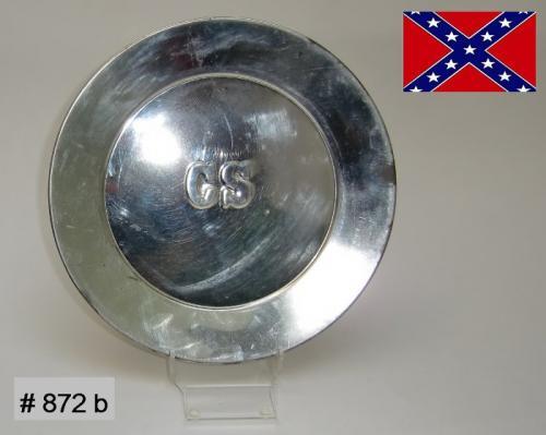 BT872b - Assiètte platte impression CS - CS Tin Plate - EN STOCK