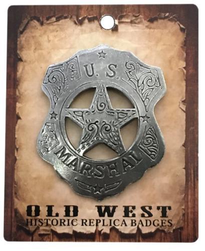 Badge - BGE-043 - US Marshall Shield  Star - Made in USA - EN STOCK