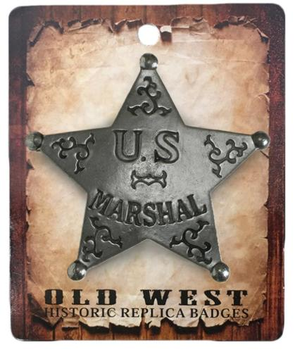 Badge - BGE-26 - US Marshall 5 Point Star - Made in USA - EN STOCK