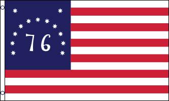 Bennington 76 - Le Bennington 76 est un des drapeaux les plus populaires de la Révolution Américaine évoquant la bataille de Bennington et the Spirit of 76