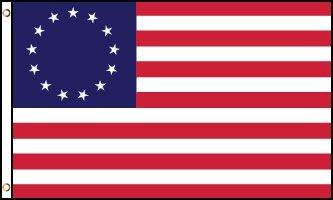 Betsy Ross - 13 Stars Flag - les 13 premiers états américains - 14 juin 1777 au 1er mai 1795 - EN STOCK