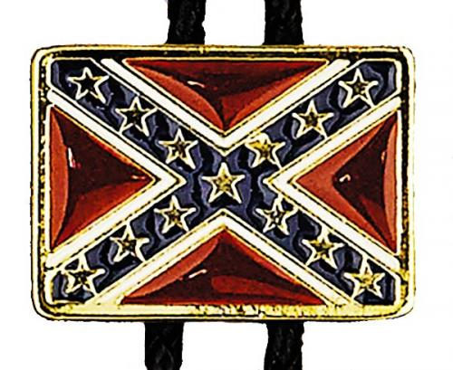 Bolo Tie - BT-370 - Confederate Flag Bolo Tie - Made in USA - EN STOCK