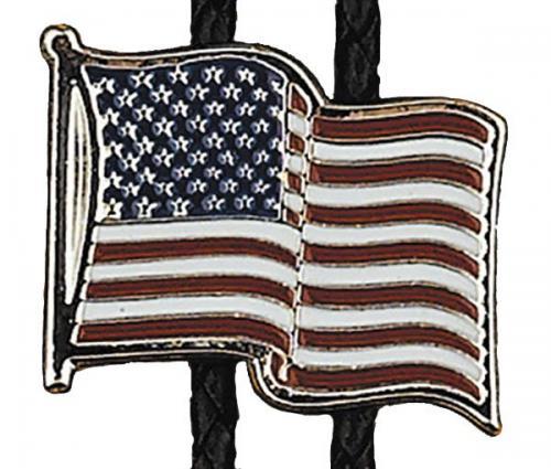 Bolo Tie - BT-372 - USA Flag Bolo Tie - Made in USA - EN STOCK