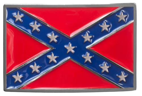 Boucle de ceinture - BU-1044 - Rebel Flag Belt Buckle type drapeau sudiste - EN STOCK