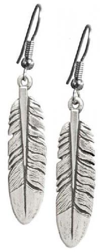 Boucles d'oreille - EJ-33 - Single Feather Earrings, Made in USA - EN STOCK