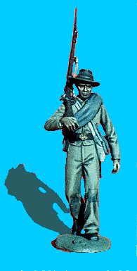 C08 - Walking - Rifle on shoulder. 54mm Confederate infantry (unpainted kit) - EN STOCK