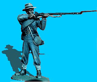 C15 - Standing - Firing. 54mm Confederate infantry (unpainted kit) - EN STOCK