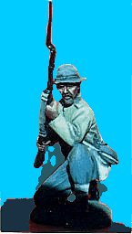 C16 - Kneeling - Rifle at ready. 54mm Confederate infantry (unpainted kit) - EN STOCK