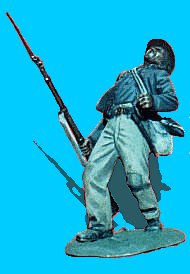 C18 - Falling backwards - Wounded. 54mm Confederate infantry (unpainted kit) - EN STOCK