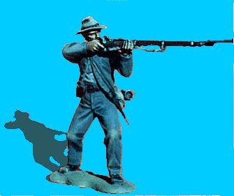 C27 - Knees bent - Firing. 54mm Confederate infantry (unpainted kit) - EN STOCK