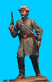 C29 - Officer advancing - Revolver drawn. 54mm Confederate infantry (unpainted kit) - EN STOCK