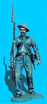 C2 - Advancing - Shoulder arms. 54mm Confederate infantry (unpainted kit) - EN STOCK